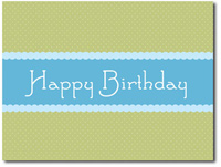 Scalloped Elegance Box of 25 Birthday Cards