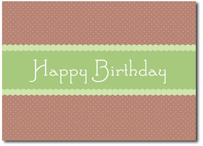 Scalloped Polka Dots (25 cards & envelopes) - Boxed Birthday Cards