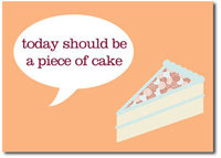 Slice of Vanilla Cake (25 cards & envelopes) Personalized Business Boxed Birthday Cards