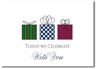 Celebrate With You (25 cards & envelopes) Personalized Business Boxed Birthday Cards