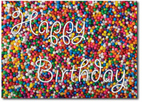 Happy Birthday Sprinkles (25 cards & envelopes) Personalized Business Boxed Birthday Cards