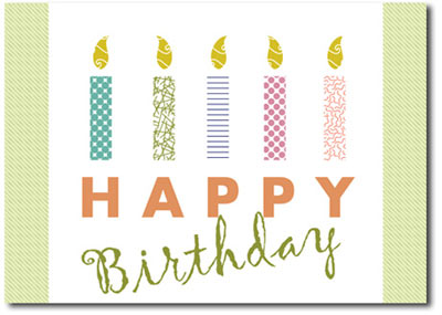 Striking Birthday Candles (25 cards & envelopes) Personalized Business Boxed Birthday Cards
