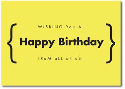 Happy Birthday in Yellow (25 cards & envelopes) - Boxed Birthday Cards