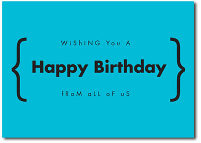Happy Birthday in Blue (25 cards & envelopes) - Boxed Birthday Cards