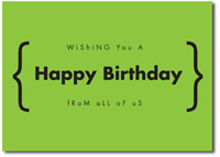 Happy Birthday in Green (25 cards & envelopes)