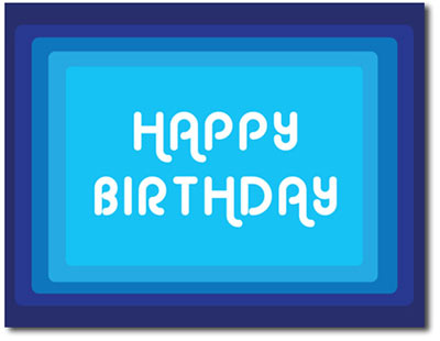 Retro Birthday (25 cards & envelopes) Personalized Business Boxed Birthday Cards