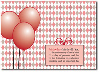 Birthday Definition (25 cards & envelopes) Personalized Business Boxed Birthday Cards