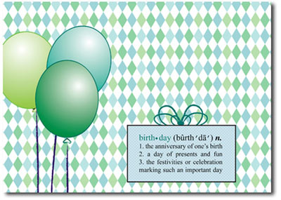 Definition of Birthday (25 cards & envelopes) - Boxed Birthday Cards