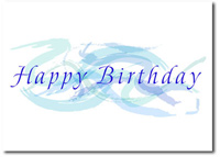 Pastel Birthday Swirls (25 cards & envelopes) Personalized Business Boxed Birthday Cards