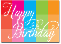 Happy Birthday Rainbow Block (25 cards & envelopes) Personalized Business Boxed Birthday Cards