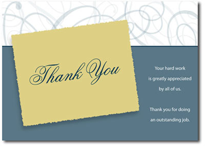 Ornamental Thank You (25 cards & envelopes) Personalized Business Boxed Thank You Cards