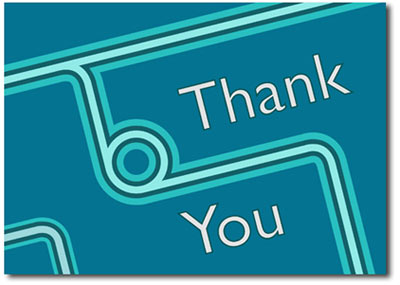 Retro Thank You (25 cards & envelopes) - Boxed Thank You Cards