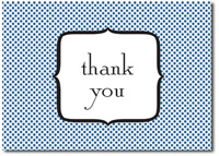 Polka Dot Thank You (25 cards & envelopes) Personalized Business Boxed Thank You Cards