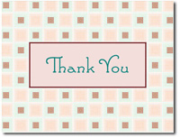Thank You Variegated Squares (25 cards & envelopes) Personalized Business Boxed Thank You Cards