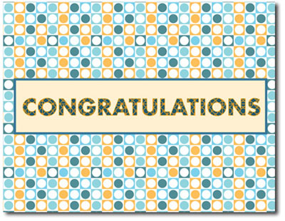 Congratulation Circles (25 cards & envelopes) Personalized Business Boxed Congratulations Cards