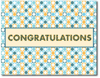 Congratulation Circles (25 cards & envelopes) - Boxed Congratulations Cards