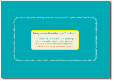 Congratulations Definition (25 cards & envelopes) Personalized Business Boxed Congratulations Cards