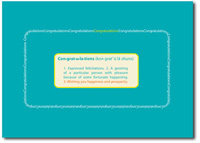 Congratulations Definition (25 cards & envelopes) - Boxed Congratulations Cards