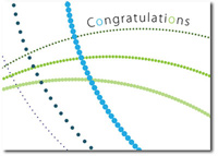 Swirling Dots (25 cards & envelopes) - Boxed Congratulations Cards