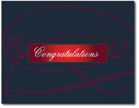Mini Elegant Flourish (25 cards & envelopes) - Boxed Congratulations Cards