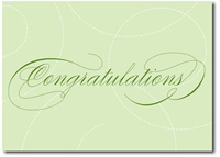 Stunning Swirls in Green (25 cards & envelopes) - Boxed Congratulations Cards