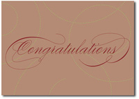 Stunning Swirls in Brown (25 cards & envelopes) - Boxed Congratulations Cards