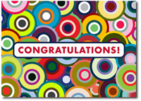 Colorful Targets (25 cards & envelopes) - Boxed Congratulations Cards