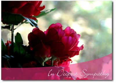 Floral Sympathy (25 cards & envelopes) Personalized Business Boxed Sympathy Cards