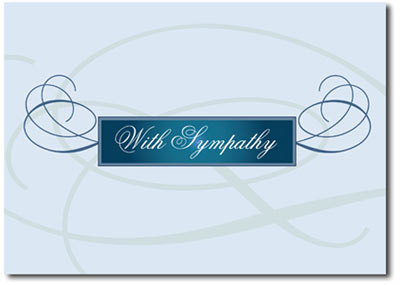 Elegant Flourish Sympathy (25 cards & envelopes) - Boxed Sympathy Cards