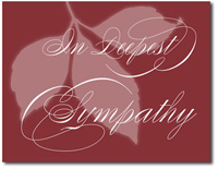 Muted Sympathy in Cranberry (25 cards & envelopes) Personalized Business Boxed Sympathy Cards