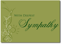 With Deepest Sympathy in Olive (25 cards & envelopes) Personalized Business Boxed Sympathy Cards