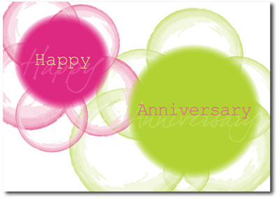 Vibrant Anniversary (25 cards & envelopes) Personalized Business Boxed Anniversary Cards