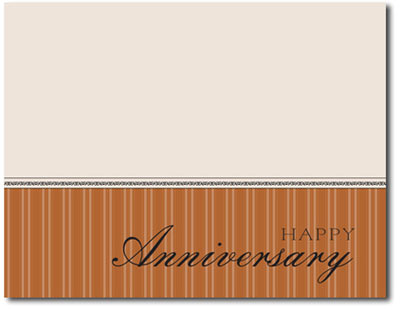 Mini Anniversary in Copper (25 cards & envelopes) Personalized Business Boxed Anniversary Cards