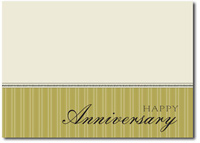 Anniversary in Olive (25 cards & envelopes) Personalized Business Boxed Anniversary Cards
