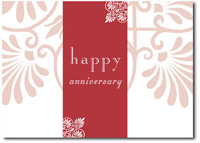 Happy Anniversary Flourishes (25 cards & envelopes) Personalized Business Boxed Anniversary Cards