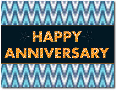 Wavy Anniversary (25 cards & envelopes) - Boxed Anniversary Cards