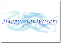 Pastel Anniversary Swirls (25 cards & envelopes) Personalized Business Boxed Anniversary Cards