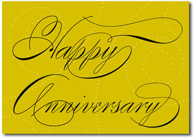 Elegant Anniversary Swirls (25 cards & envelopes) Personalized Business Boxed Anniversary Cards