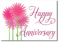 Happy Anniversary Fun Flowers (25 cards & envelopes) Personalized Business Boxed Anniversary Cards