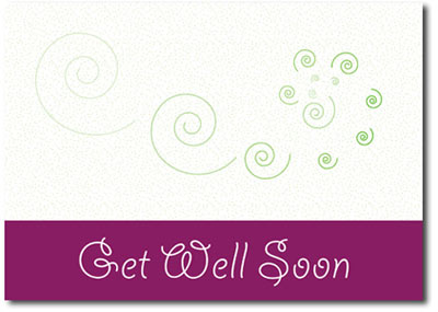 Get Well Swirls (25 cards & envelopes) Personalized Business Boxed Get Well Cards