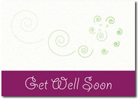Get Well Swirls (25 cards & envelopes) - Boxed Get Well Cards