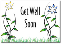 Pinwheel Petals (25 cards & envelopes) - Boxed Get Well Cards