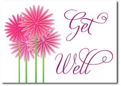 Get Well Fun Flowers (25 cards & envelopes) Personalized Business Boxed Get Well Cards