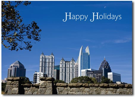 Atlanta Skyline (25 cards & envelopes) - Boxed Holiday Cards
