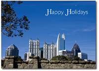 Atlanta Skyline (25 cards & envelopes) Personalized Georgia Boxed Holiday Cards