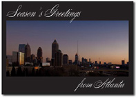 Atlanta at Dusk (25 cards & envelopes) - Boxed Holiday Cards