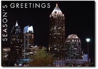 Atlanta at Night (25 cards & envelopes) - Boxed Holiday Cards