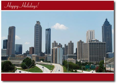 Scenic Atlanta (25 cards & envelopes) Personalized Georgia Boxed Holiday Cards