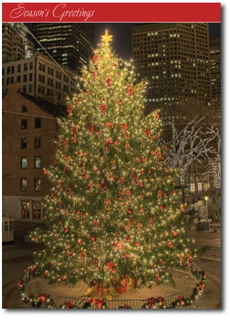 Faneuil Hall (25 cards & envelopes) Personalized Boston Massachusetts Boxed Holiday Cards
