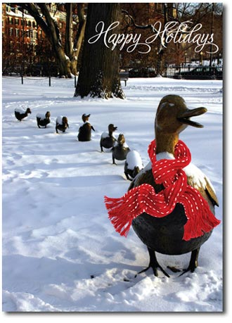 Make Way for Ducklings (25 cards & envelopes) Personalized Boston Massachusetts Boxed Holiday Cards
